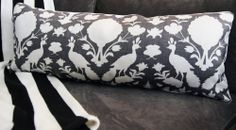 Chenonceau Silhouette Large Bolster Pillow - Upcycled Home - $204.00