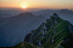Sunrise over Kanisfluh in the Bregenz Forest Mountains - Vorarlberg, Austria by Katrina Qerri