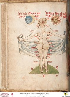 Tübinger Hausbuch: Iatromathematisches Kalenderbuch; die Kunst der Astronomie und Geomantie; Württemberg, [15. Jh.]; Seite: 42v