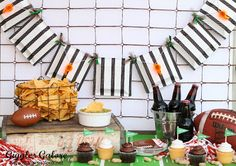 Creative Party Ideas by Cheryl - taken a different angle at tailgate, let's bring the ref into the fun. Could be for a football or hockey theme party.