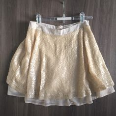 Sequin flare skirt Brand new with tag on.. Never worn, obviously 😀 JOA Skirts A-Line or Full