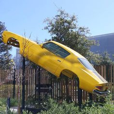 Car Body Frame Suspended In Air At Google Office Marketing News, Internet Marketing, Online Marketing, Google Office, Seo Consultant, Informational Writing, New Market, Mountain View, Cool Photos