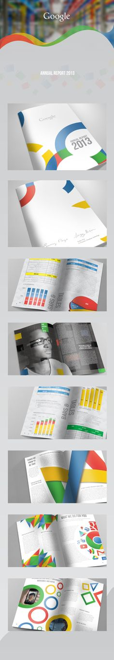 Google - Annual Report 2013 by Jimmy Kalman, via Behance