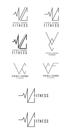 Logo design I created for a local fitness personal trainer Visible Change Fitness.