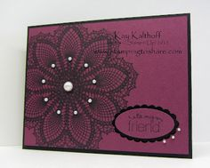 Stamping to Share: 6/30 Stampin' Up! Hello Doily. Use Medallion instead...