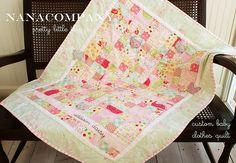 custom baby clothes quilt by nanaCompany, via Flickr