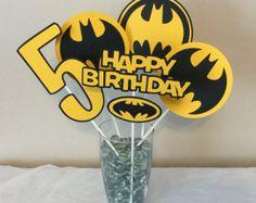 5 Piece Batman Black and Pink Centerpieces Batgirl by scraptags