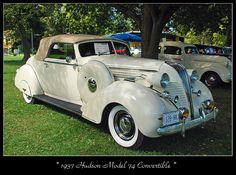 1937 Hudson Model 74 Convertible | Photo by Steve Brown -- Flickr - Photo Sharing!