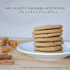 Salted Caramel-Stuffed Brown Butter Snickerdoodles - amazing!