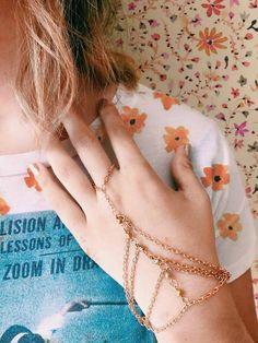✿ pulseira/anel dourada ✿