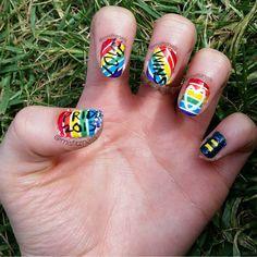 Pride Nails #NailPolishAddict #DIYMani #Nails #NailPolish #Manicure #Mani #Esmalte #EsmaltedeUñas #Uñas #NailArt #NailCreation #ILoveNails #misfitznails #Pride2015 #PrideNails #Pride #LoveWins