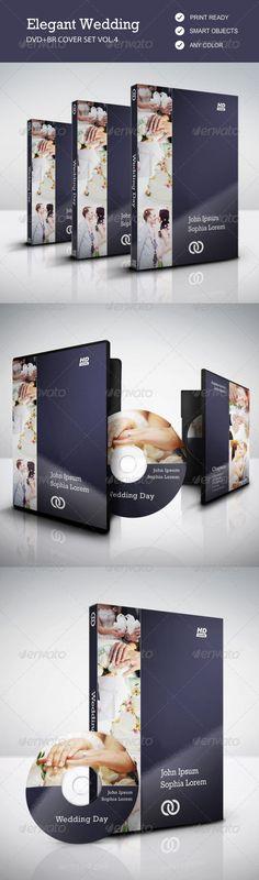 Elegant Wedding DVD & BR Cover Set vol.4 — Photoshop PSD #print #wedding video • Available here → https://graphicriver.net/item/elegant-wedding-dvd-br-cover-set-vol4/7902068?ref=pxcr