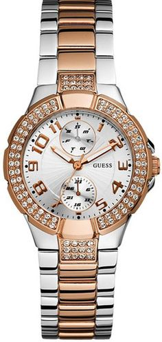 df52ce3031ce Guess Watch Women s Rose Gold Tone and Steel Bracelet U13586L2   eBay  Bracelet Watch,