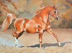 Peter Upton - Showing the Flag, Trotting Chestnut Stallion