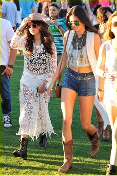 Selena Gomez Sports Sheer Dress For Coachella Outing with Kendall & Kylie Jenner!: Photo Selena Gomez rocks a super sheer white dress while attending the first day of the 2014 Coachella Music Festival on Friday (April in Indio, Calif. Top Celebrities, Celebs, Festival Chic, Kendall And Kylie Jenner, Sheer Dress, Selena Gomez, Glamour, Coachella Style, Jenners
