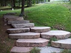 Image result for stone walkway ideas on a hillside