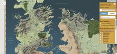 An Interactive Map of the Lands From the 'Game of Thrones' Television Show and 'A Song of Ice and Fire' Novel Series