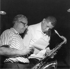 Alfred Lion (left)   Co-founder of Bluenote Records and producer  Dexter Gordon (right) 27/03/1923 – 25/04/1990  Tenor saxophone