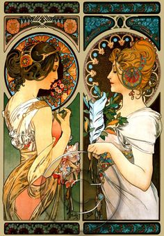 Alphonse Mucha digital art print, 2011  http://www.etsy.com/people/BreatheDecor