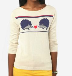 OMG. need this hedgehog sweater. Urban Outfitters.