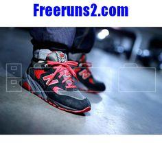 62756acc8ef New Balance 580 cool fire rouge Noir Chaussures Hommes Cheap New Balance