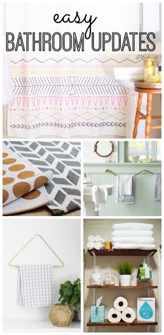 Small changes can go a long way in a bathroom. Check out these simple ways to update your space! Easy DIY Bathroom updates!