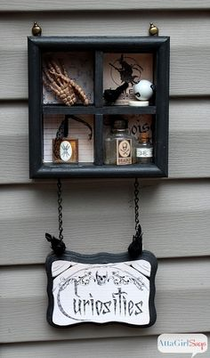 Cabinet of Curiosities Halloween Mod Podge Craft
