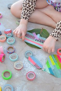 decorate leaves with washi tape ~ a simple craft for all ages