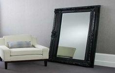Mirror Floor Mirror With Frame Ikea Black Ornate And Sofa The Use of Floor Mirror IKEA