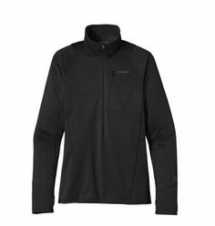 From sunrise to sundown, from epic approaches to alpine traverses, the versatile R1® Pullover stretches, breathes, moves moisture and insulates. The finely tuned high/low interior grid polyester fabric (Polartec® Power Dry®) squashes down to practically nothing, has a terrific feel and remains durable and warm.