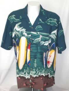 4580dd3c0 Stolen Pig Hawaiian Shirt Mens XL Surfboards Pipeline Haleiwa North Shore  FIJI  StolenPig  Hawaiian