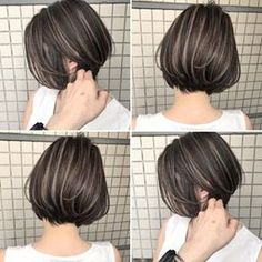 Pin on ヘアスタイル Short Hair Dont Care, Short Hair Cuts, Pretty Hairstyles, Bob Hairstyles, Medium Hair Styles, Long Hair Styles, Asian Short Hair, Shot Hair Styles, Short Bob Haircuts