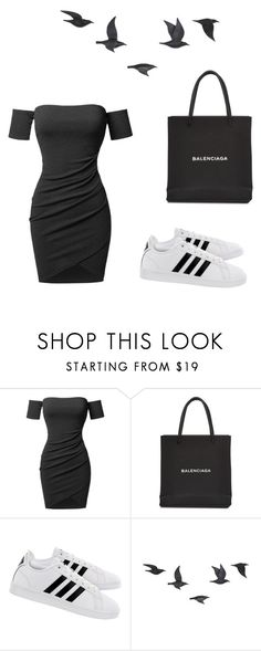 """days"" by juliadb on Polyvore featuring Balenciaga, adidas and Jayson Home"