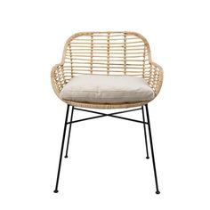 Modern Earth Tiger Stoel Rotan 60 x 57 x 79 cm - Beige - afbeelding 1 Sofa Chair, Couch, Armchair, Sofa Set Designs, Solid Wood Dining Chairs, Dining Chair Set, Dining Area, Stylish Chairs, Modern Chairs
