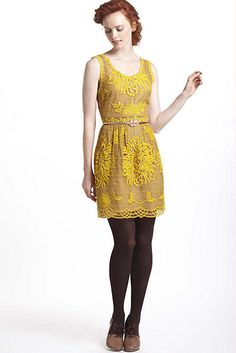 Potential yellow bridesmaid from Anthropologie