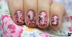 Pink Marbled Nails!