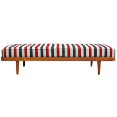 Danish Striped Daybed | From a unique collection of antique and modern day beds at http://www.1stdibs.com/furniture/seating/day-beds/
