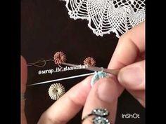 Yapımı farklı iğne oyası   interesting technique  embroidery thread - YouTube
