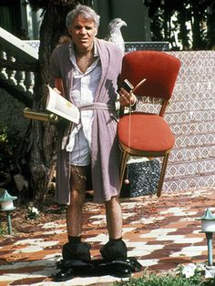 """Navin R. Johnson (Steve Martin): """"Huh? I am *not* a bum. I'm a jerk. I once had wealth, power, and the love of a beautiful woman. Now I only have two things: my friends, and... uh... my thermos."""" -- from The Jerk (1979) directed by Carl Reiner"""