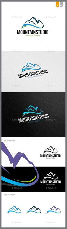 Mountain Studio Logo — AI Illustrator #logo #mountain logo • Available here → https://graphicriver.net/item/mountain-studio-logo/10124147?ref=pxcr