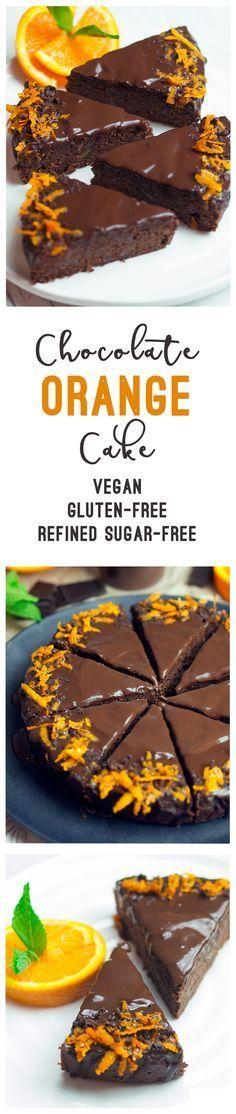 Chocolate Orange Cake (vegan, gluten-free, sugar-free)