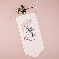 Floral Dreams Down The Aisle Signage - BridalEverything.com