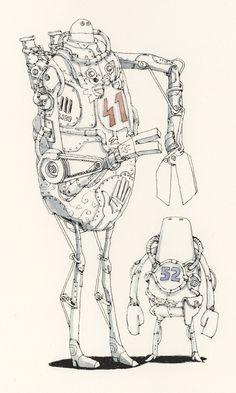 4152 by Mattias Adolfsson. (par Mattias Adolfsson)  More robots here.
