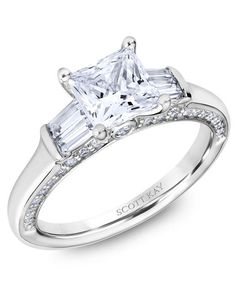 Scott Kay Platinum engagement ring with crown mounting and round diamonds on the profile I Style: M2601BR515 I https://www.theknot.com/fashion/m2601br515-scott-kay-engagement-ring?utm_source=pinterest.com&utm_medium=social&utm_content=june2016&utm_campaign=beauty-fashion&utm_simplereach=?sr_share=pinterest