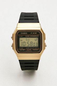 81dae80b3dac Casio - Montre F91W-1 noir et or. Black And Gold WatchCasio WatchUrban  OutfittersResin BraceletWatch