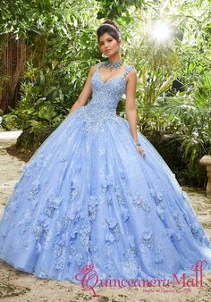The Mori Lee Collection offers elegant and colorful quinceanera dresses and vestidos de quinceanera. These 15 dresses are perfect for your quince party! Lace Ball Gowns, Tulle Ball Gown, Ball Gown Dresses, Tulle Lace, 15 Dresses, Pretty Dresses, Blue Dresses, Beautiful Dresses, Beaded Lace