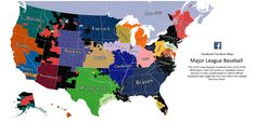 Facebook data of baseball allegiances shows the geography of fandom. — The Atlantic