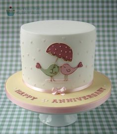 Love Bird Anniversary Cake
