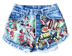 Love these Marvel Flare spikes and seams shorts! <3