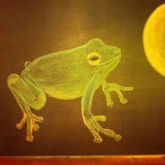 Waldorf ~ 1st grade ~ Iron Henry ~ chalkboard drawing